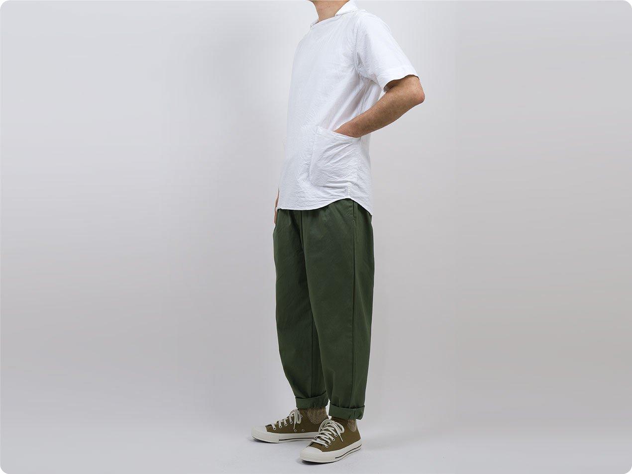 maillot mature drawstring tuck pants OLIVE