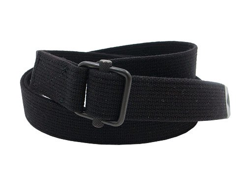 MHL. NARROW MILITARY BELT 010BLACK