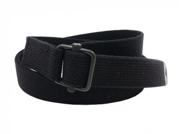 MHL. NARROW MILITARY BELT 10BLACK