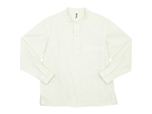 MHL. DRY COTTON SHIRTING P/O SHIRTS 032OFF WHITE 〔メンズ〕