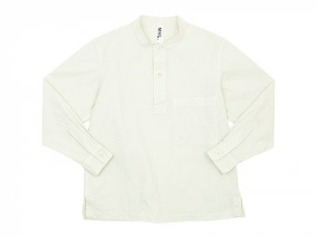 MHL. DRY COTTON SHIRTING P/O SHIRTS 032OFF WHITE 〔メンズ〕