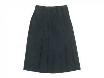 Charpentier de Vaisseau Belle プリーツスカート サマーウール BLACK