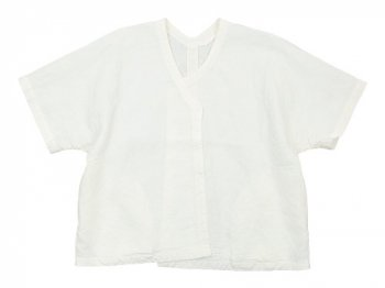 Lin francais d'antan Gir(ジール) Half Sleeve Jacket WHITE