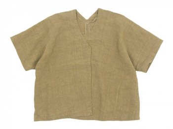 Lin francais d'antan Gir(ジール) Half Sleeve Jacket BEIGE