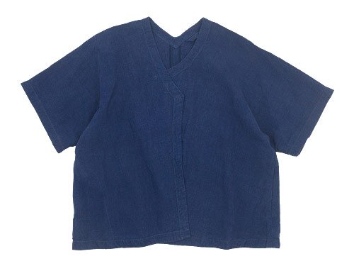 Lin francais d'antan Gir(ジール) Half Sleeve Jacket NAVY
