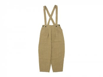 Lin francais d'antan Dermit(デルミット) Suspenders Tuck Pants BEIGE