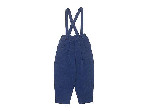 Atelier d'antan Dermit(デルミット) Suspenders Tuck Pants NAVY