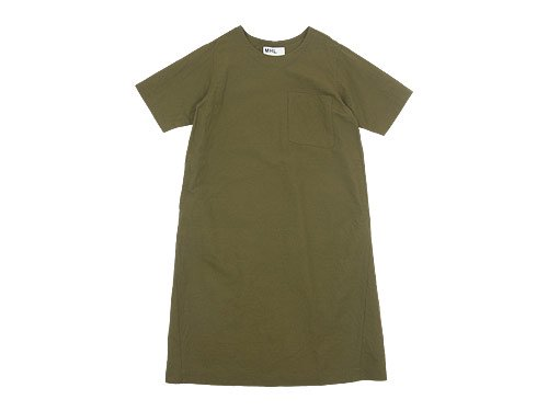 MHL. PLAIN COTTON LINEN PULLOVER DRESS 180OLIVE 〔レディース〕