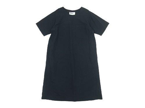 MHL. PLAIN COTTON LINEN PULLOVER DRESS 121NAVY 〔レディース〕