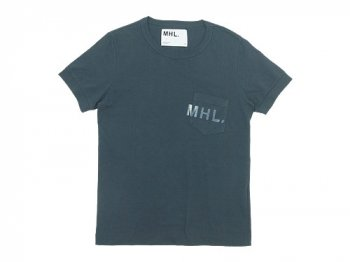 MHL. PRINTED JERSEY LOGO T 023CHARCOAL 〔レディース〕