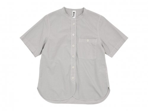 MHL. GARMENT DYE POPLIN NO COLLAR SHIRTS 021GRAY 〔レディース〕