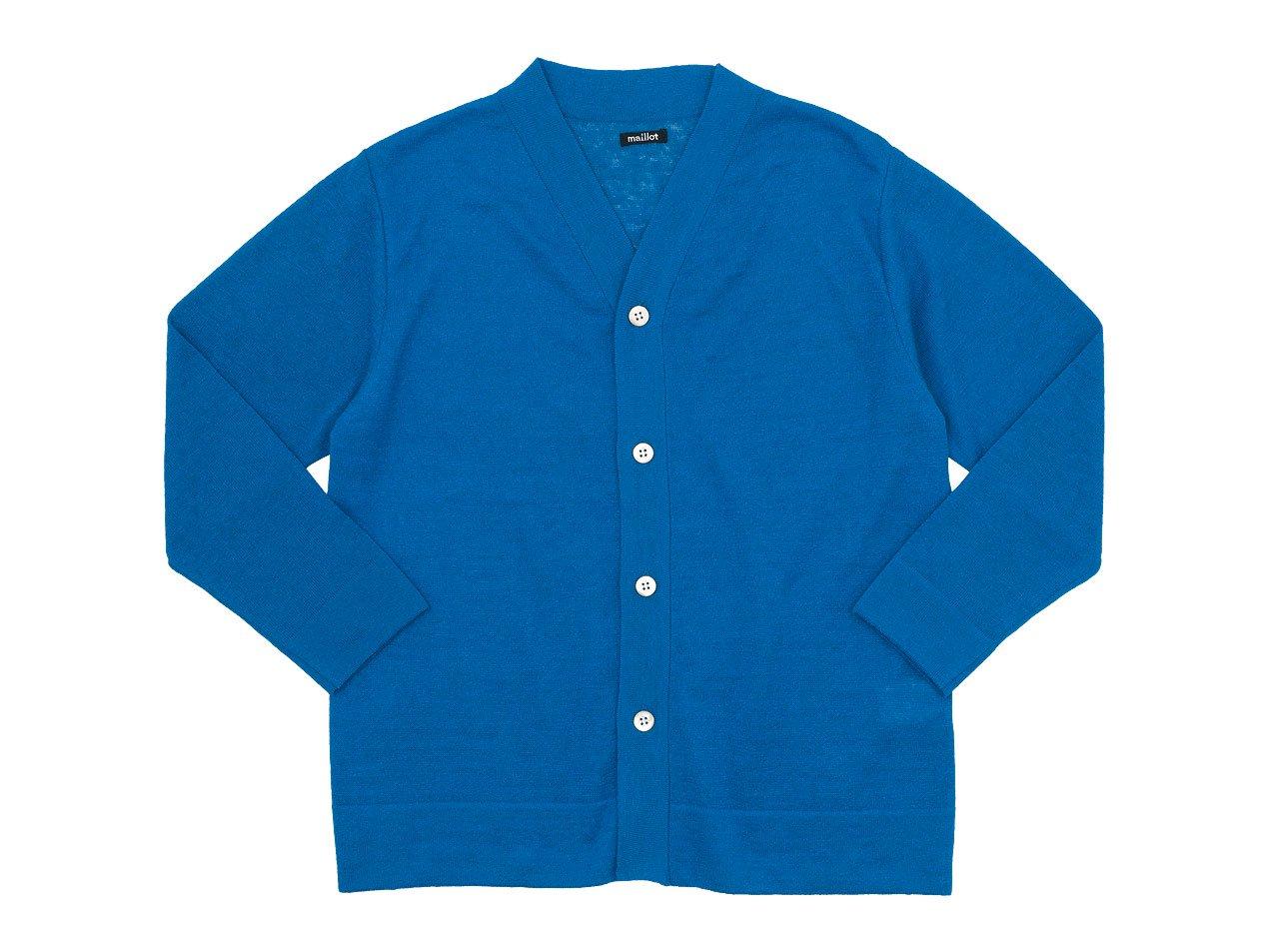 maillot mature linen summer cardigan BLUE