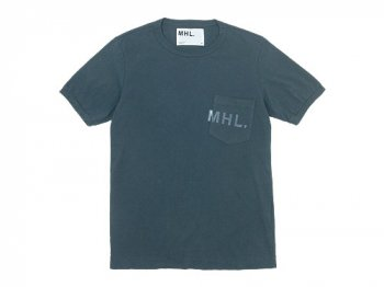MHL. PRINTED JERSEY LOGO T 〔メンズ〕