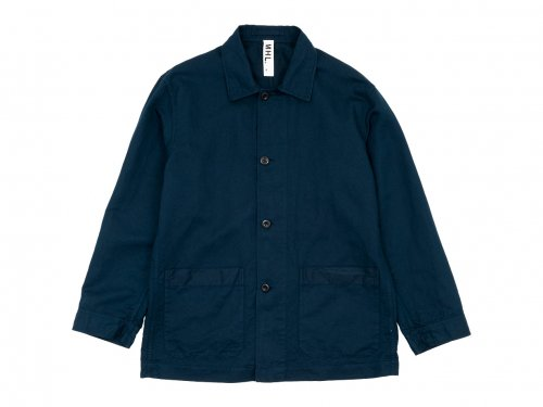 MHL. DRY COTTON LINEN SHIRTS JACKET 120NAVY 〔メンズ〕