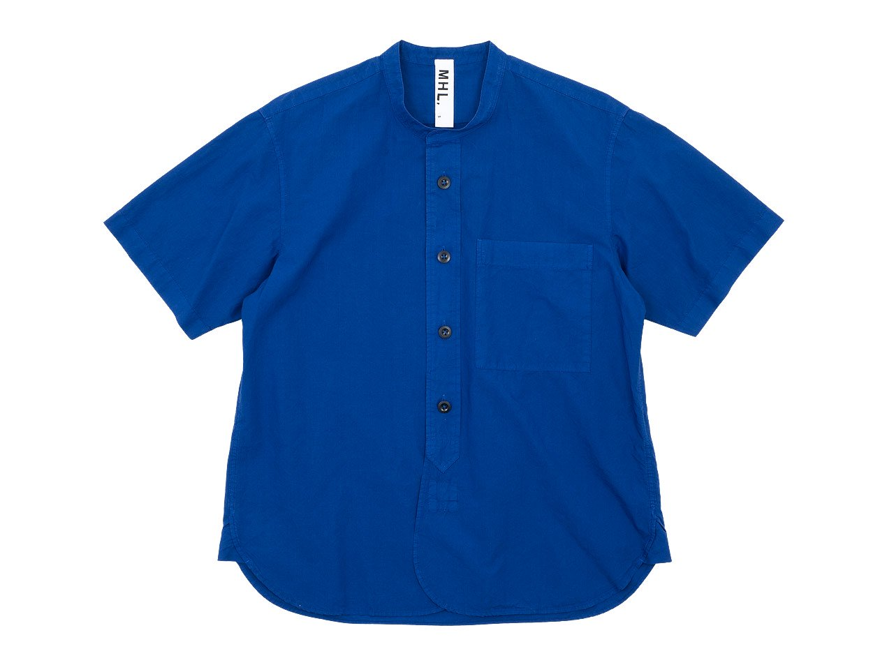 MHL. COTTON RAMIE POPLIN S/S SHIRTS 110BLUE 〔メンズ〕