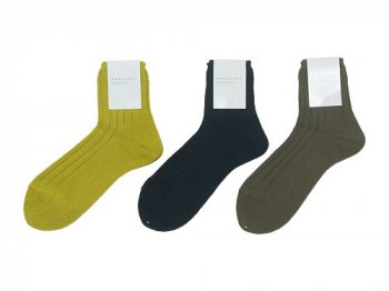MARGARET HOWELL RIB LINEN SOCKS 〔メンズ〕