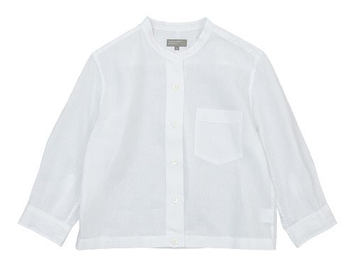 MARGARET HOWELL SHIRTING LINEN I NO COLLAR SHIRTS 030WHITE〔レディース〕