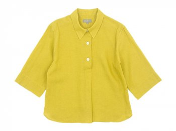 MARGARET HOWELL LINEN VOILE THREE BUTTON PULL ON SHIRTS 060CITRUS〔レディース〕