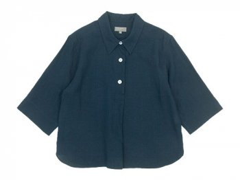 MARGARET HOWELL LINEN VOILE THREE BUTTON PULL ON SHIRTS〔レディース〕