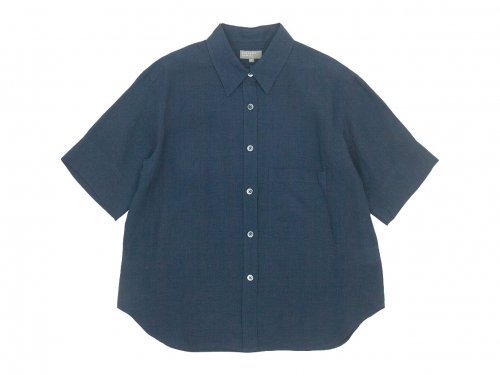 MARGARET HOWELL FINE LINEN S/S SHIRTS 027DARK GRAY〔レディース〕