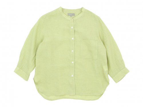 MARGARET HOWELL FINE LINEN NO COLLAR SHIRTS 142GREEN〔レディース〕