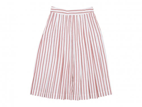 MARGARET HOWELL BOLD STRIPE COTTON LINEN SKIRT 153WHITE x ORANGE 〔レディース〕
