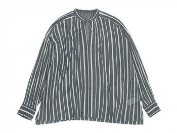 ordinary fits FLORIST BLOUSE STRIPE BLACK