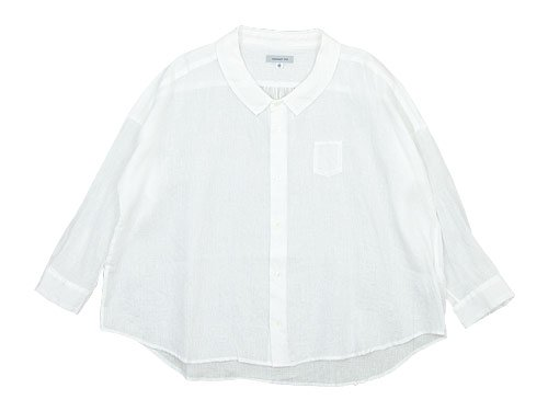 ordinary fits BARBER SHIRT OFF WHITE