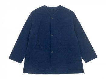 blanc needle work jacket NAVY