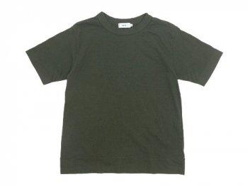 RINEN 20/1オーガニック天竺 半袖クルーネックTシャツ 09オリーブ 〔メンズ〕