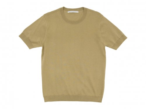 Charpentier de Vaisseau Kyle Cotton Knit Short Sleeve KHAKI