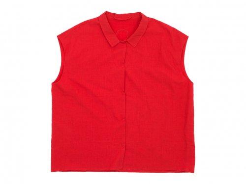 Lin francais d'antan Stuck(シュトゥック) No Sleeve Shirts RED