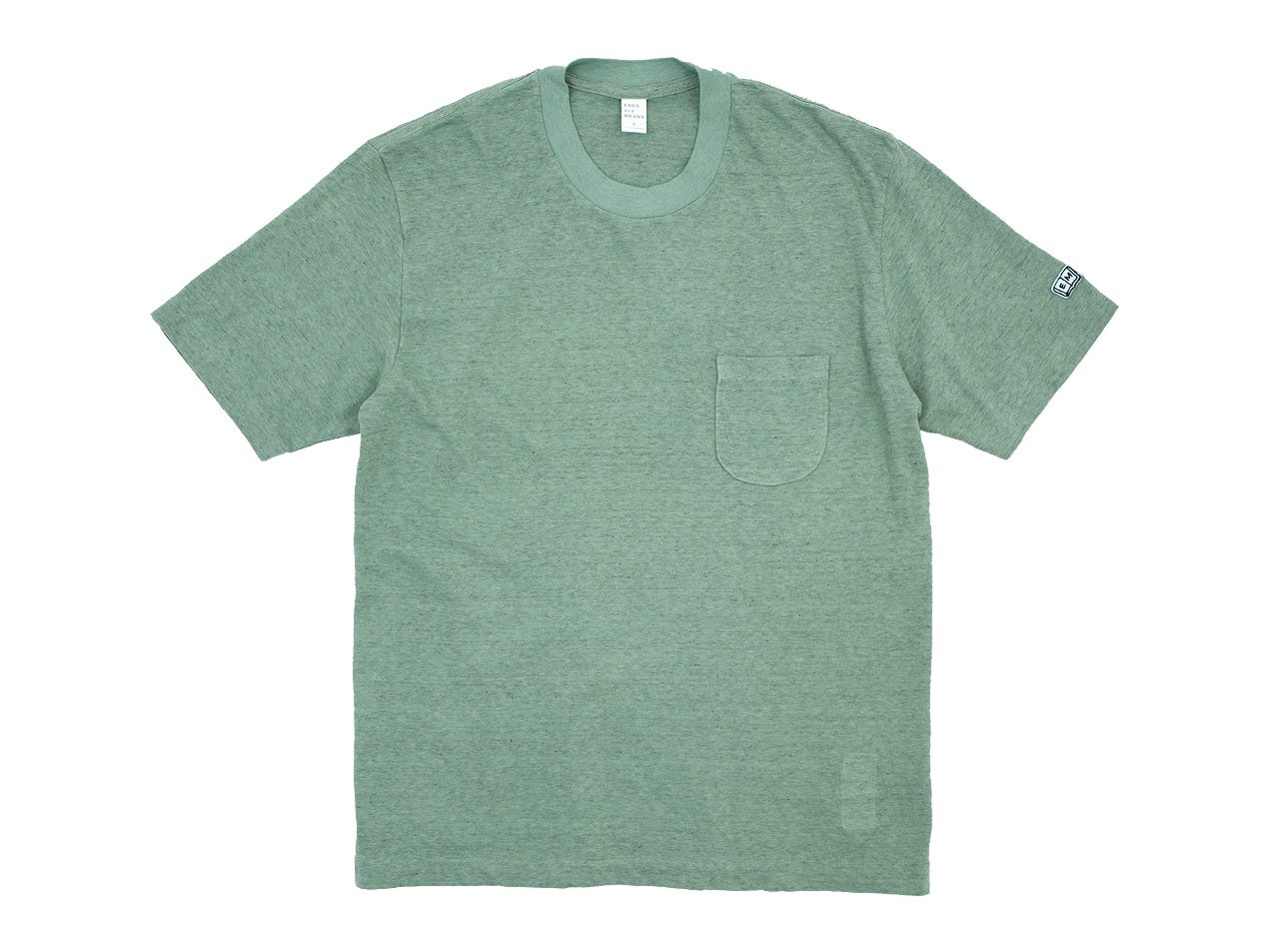 ENDS and MEANS Pocket Tee LIGHT GREEN