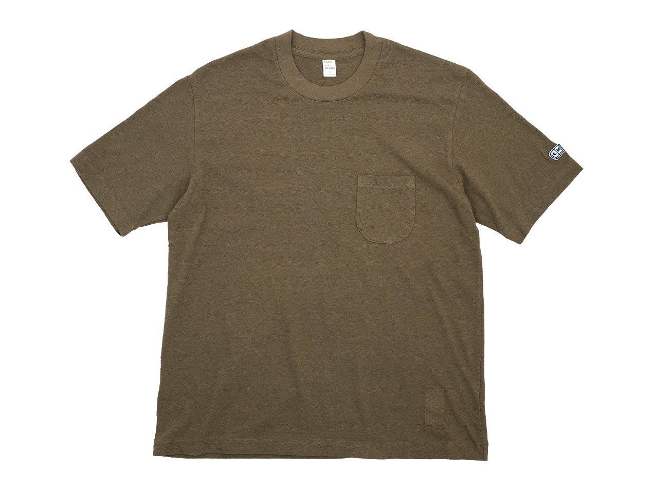ENDS and MEANS Pocket Tee BROWN