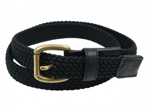 ENDS and MEANS Elastic Woven Belt BLACK