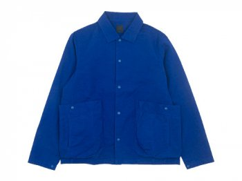 maillot cotton linen canvas snap deck jacket BLUE