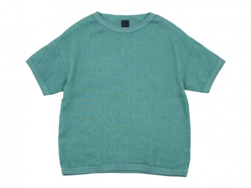 【別注】 maillot linen shirts Tee SMOKE GREEN