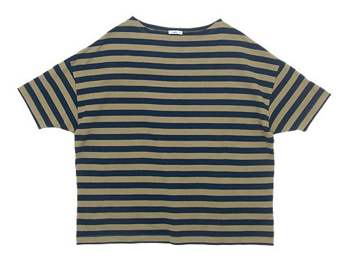 maillot border drop shoulder S/S T-shirt BEIGE x NAVY
