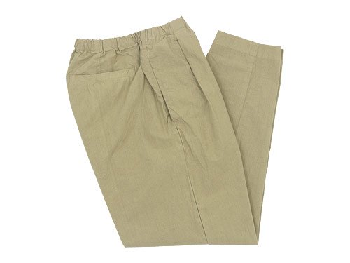 maillot mature rub cotton drawstring pants BEIGE