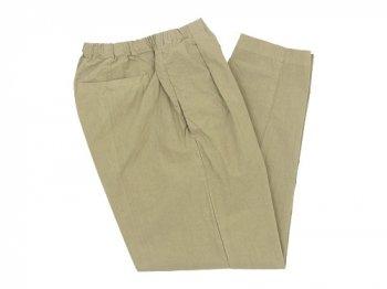 maillot mature rub cotton drawstring pants BEIGE