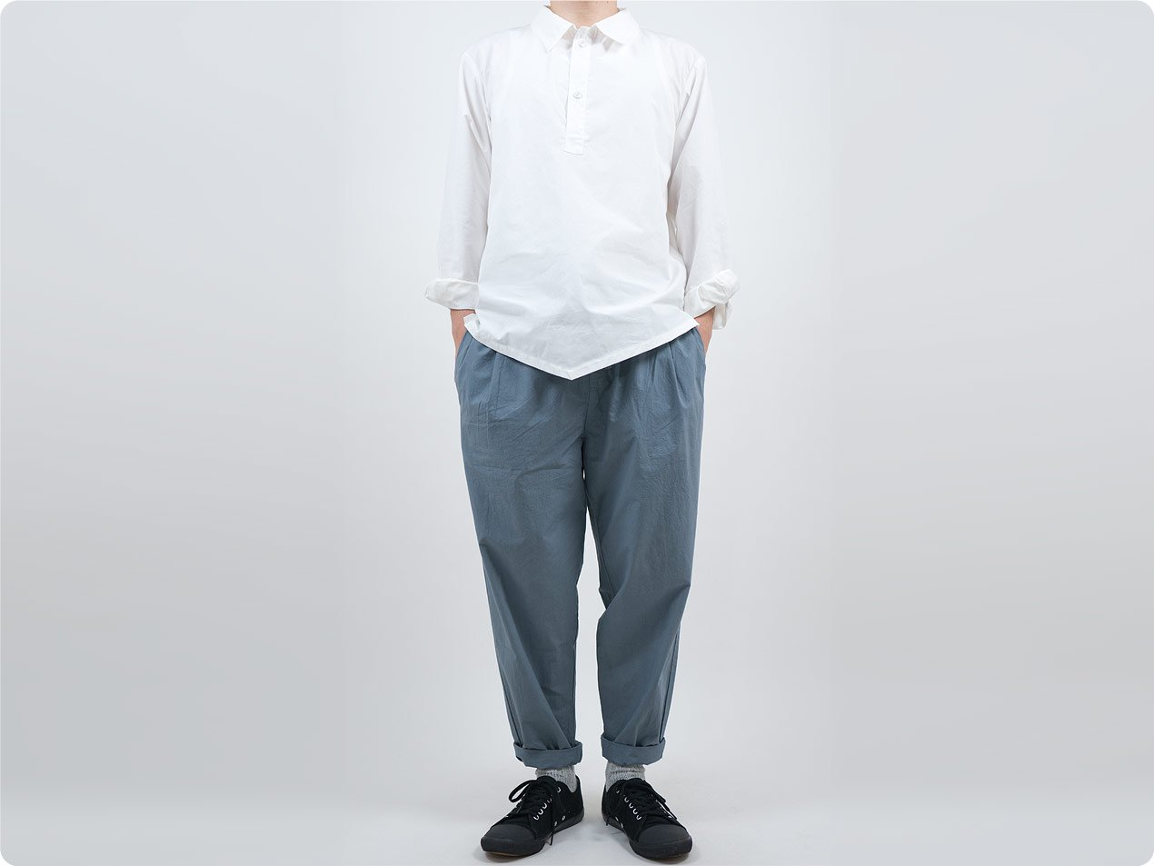 TATAMIZE P/O WORK SHIRTS WHITE