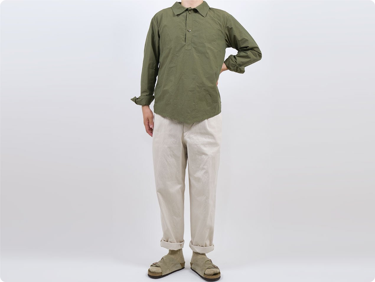 TATAMIZE P/O WORK SHIRTS OLIVE