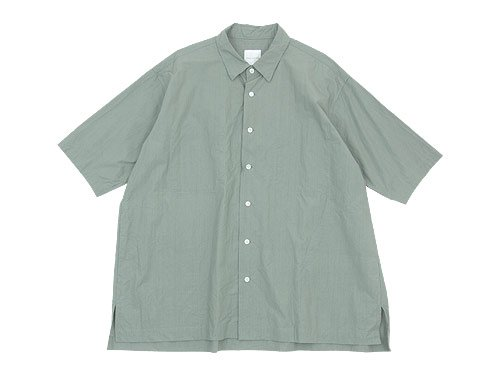 TOUJOURS Half Sleeve Big Coverall Shirt SAGE GRAY 【KM30HS01】