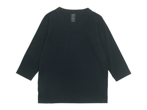 homspun 30/1天竺 七分袖Tシャツ ブラック