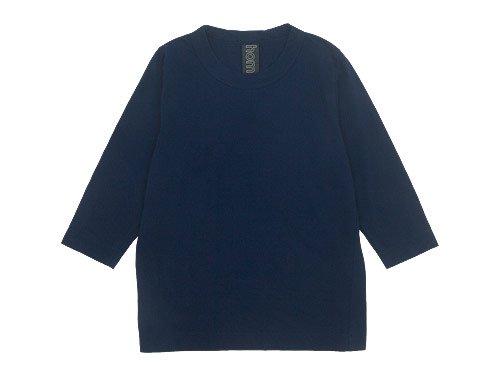 homspun 30/1天竺 七分袖Tシャツ ネイビー