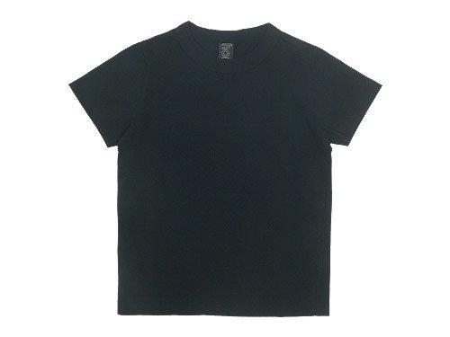 homspun 30/1天竺 半袖Tシャツ ブラック