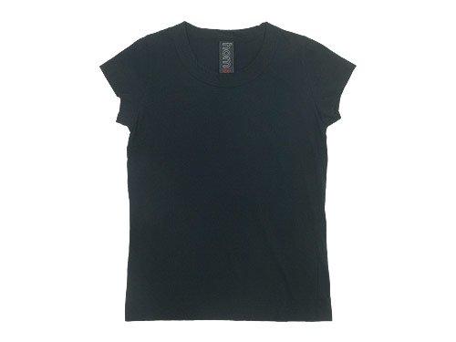 homspun 30/1天竺 フレンチスリーブTシャツ ブラック