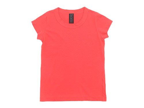 homspun 30/1天竺 フレンチスリーブTシャツ ピンク