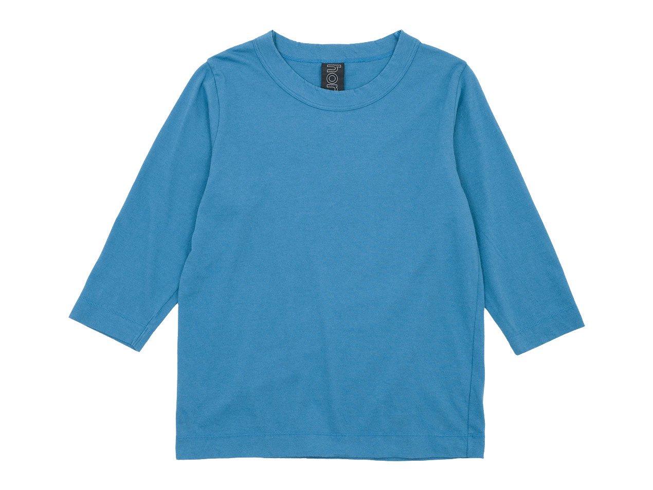 homspun 30/1天竺 七分袖Tシャツ サックス
