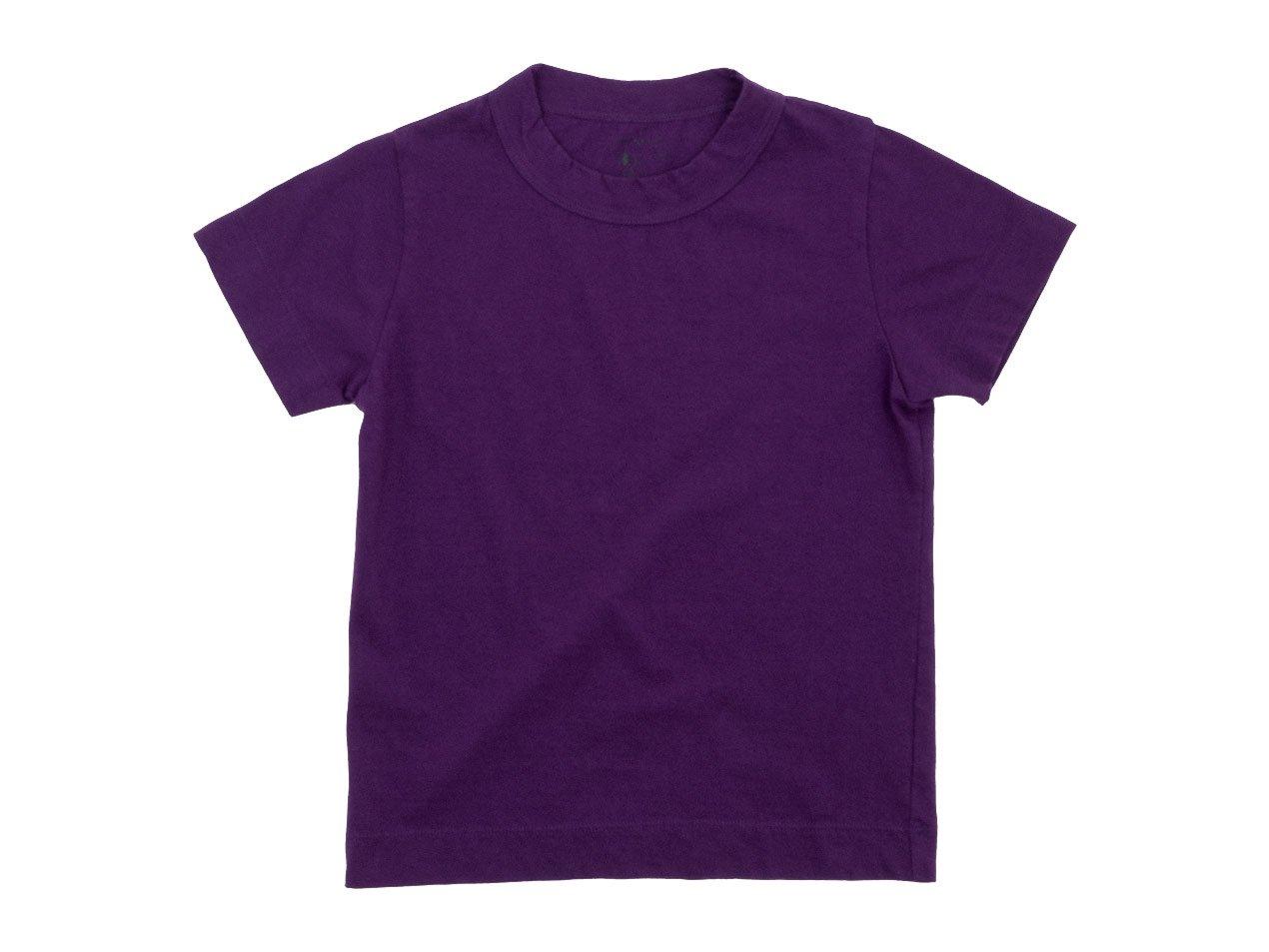 【Kid's】 homspun 30/1天竺 半袖Tシャツ パープル